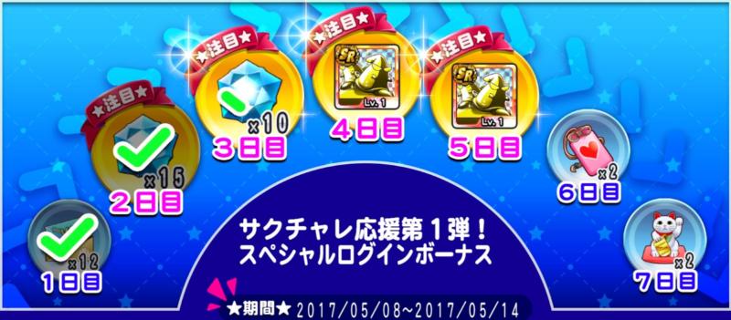 サクチャレ応援第1弾!