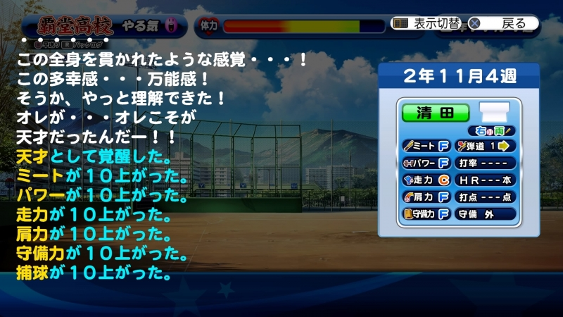 野手で3度目の天才覚醒(通算4回目)