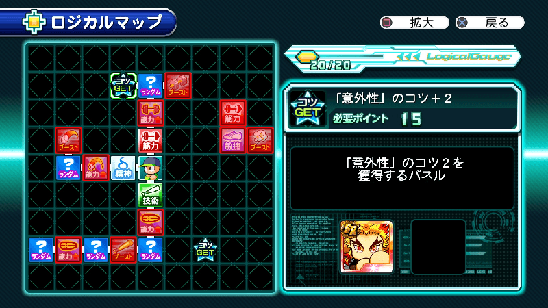 サクスペ煉獄杏寿郎のロジカルマップ